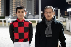 古岡勇樹騎手と岩本洋調教師