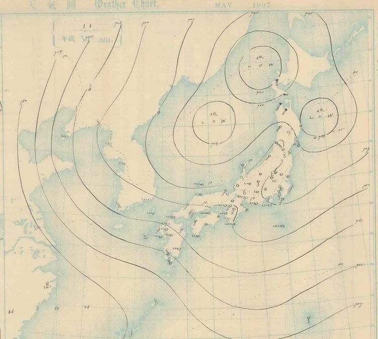 19070511天気図