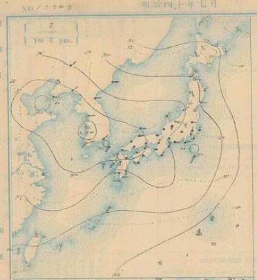 19070707天気図