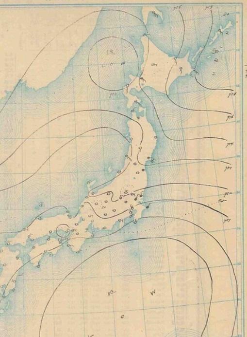 19070827天気図
