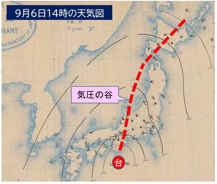 18980906 天気図