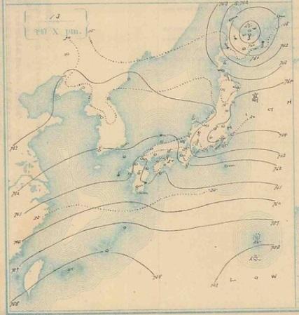 19070913天気図