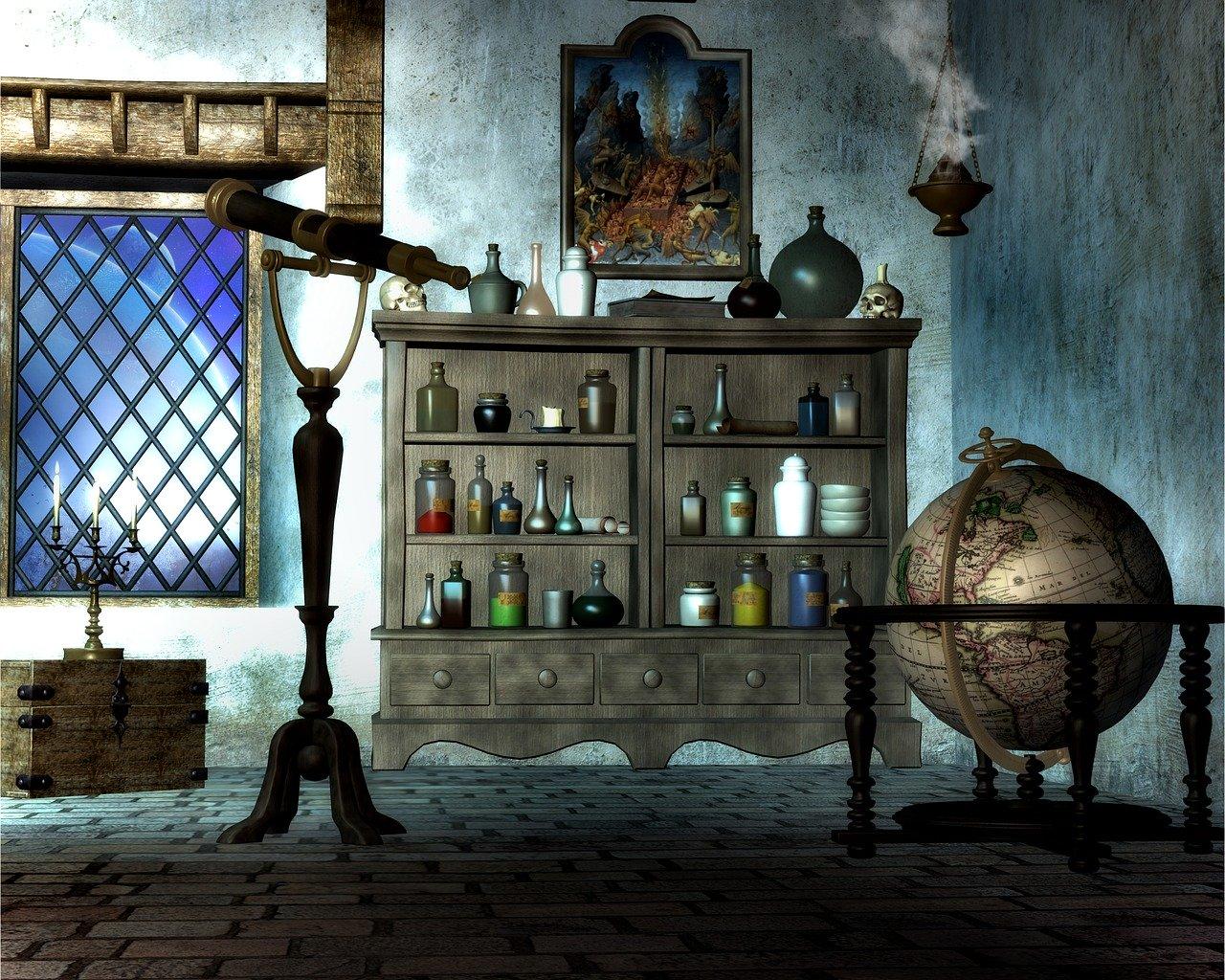 降霊術による精霊召喚 by占いとか魔術とか所蔵画像