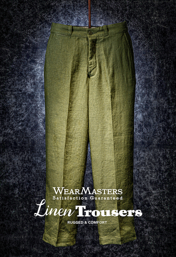 Lot411_Linen Trousers_OliveDrab