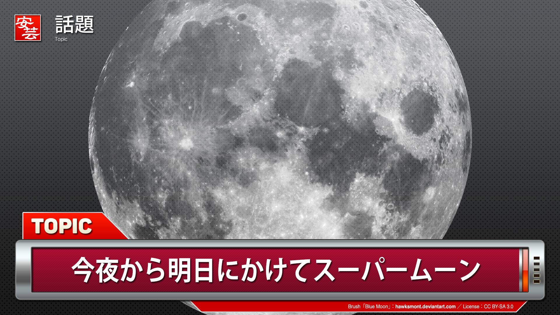 スーパー ムーン 2020 日本