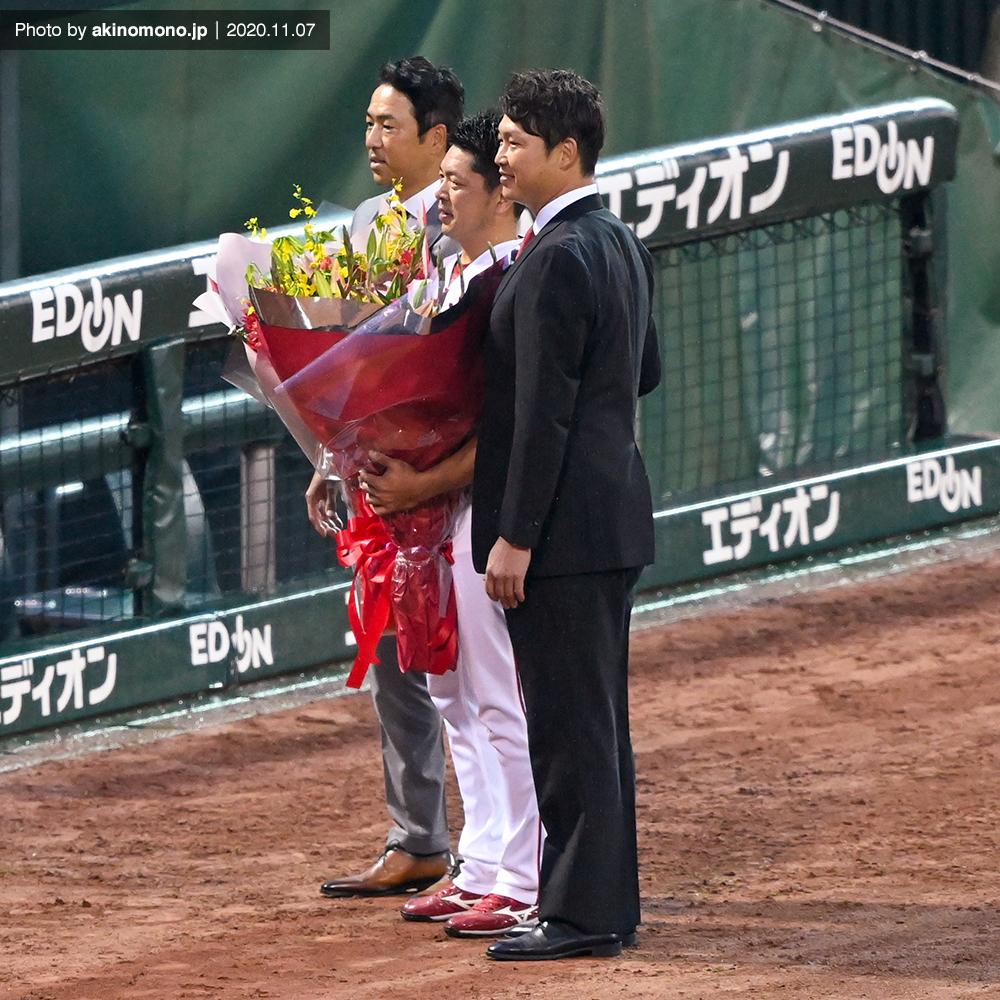 サプライズで黒田博樹さんと新井貴浩さんが登場