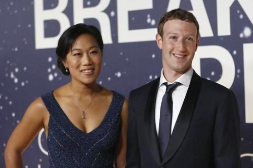 Mark Zukerburg and Priscilla Chan