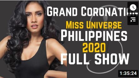 Miss Universe Philippines 2020 Youtube cover
