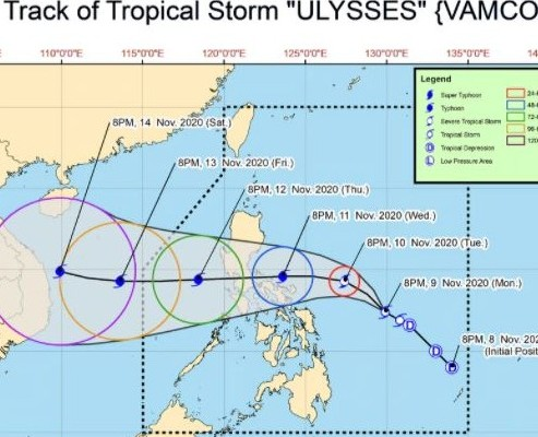 Track of Ulyssis111020