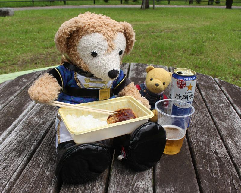 お弁当を 駿府城公園 Duffy 200720