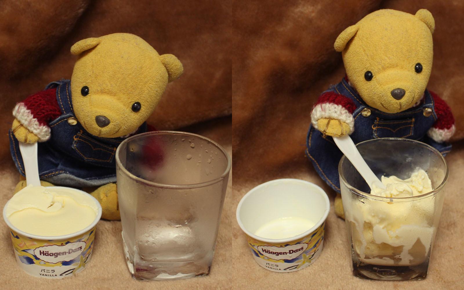 ハーゲンダッツ バニラ をグラスに 200808