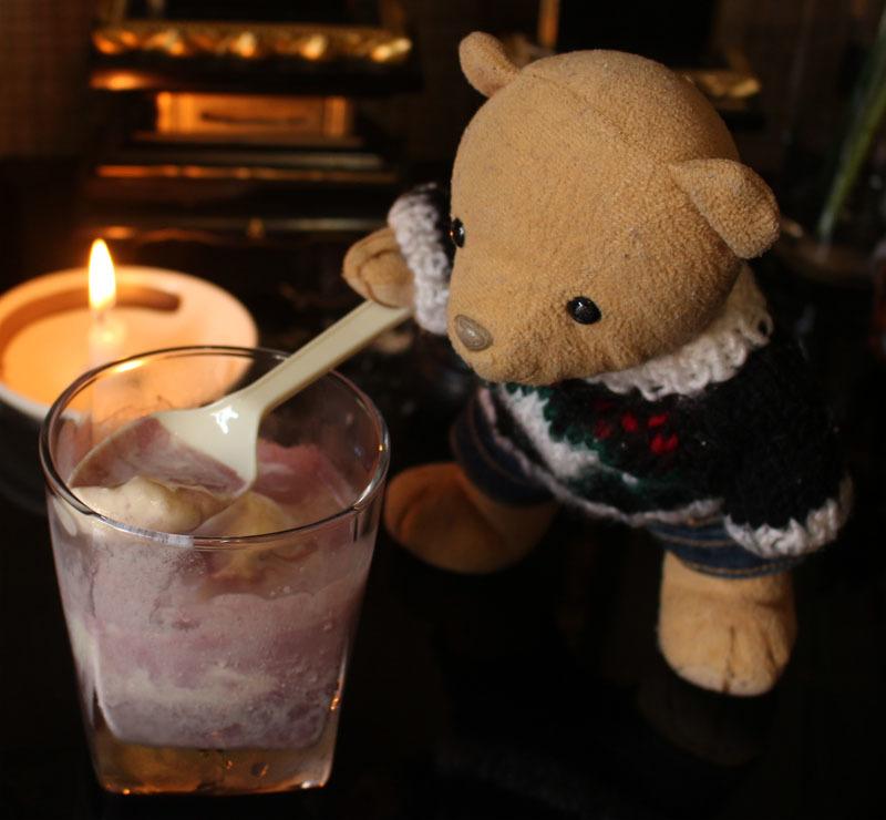 アイス+ワイン をスプーンで 200824