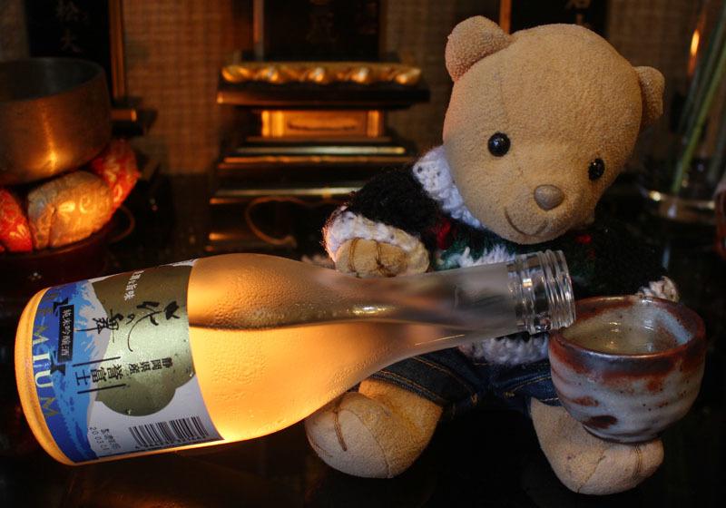 花の舞 純米吟醸 誉富士 を注ぐ 200824