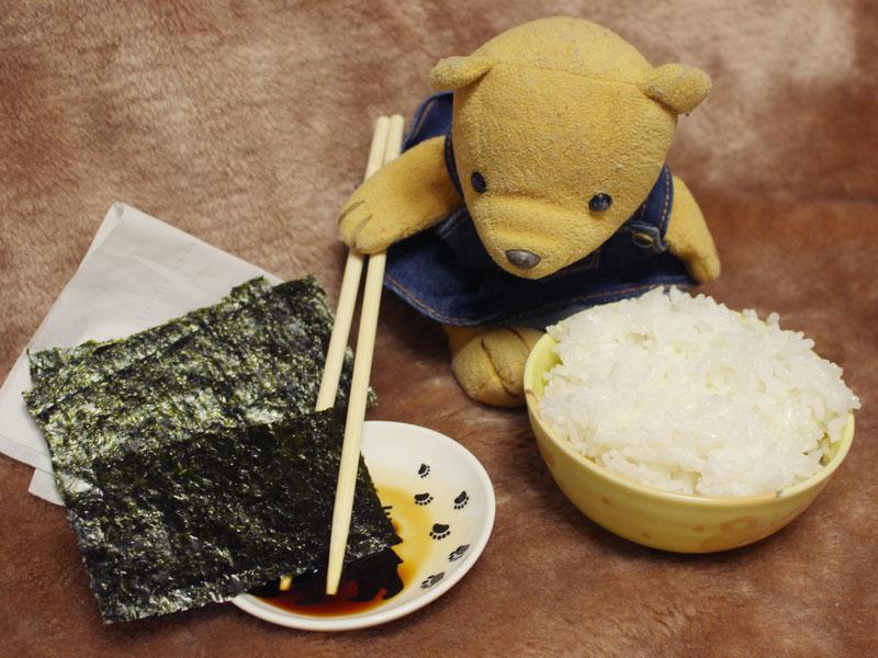 佐賀焼のり(白子のり)でご飯を 201008