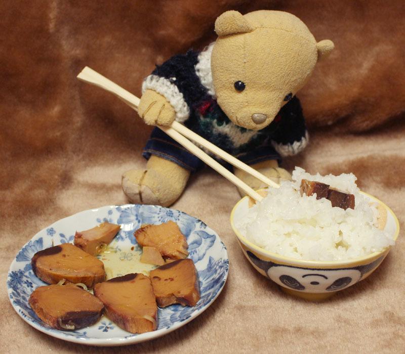 まぐろ角煮(カネシン)でご飯を 200801