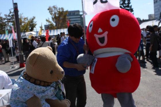くまちゃんと民主くん 20091011
