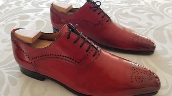 岡本屋さんで靴を磨いていただきました。 サムネイル画像