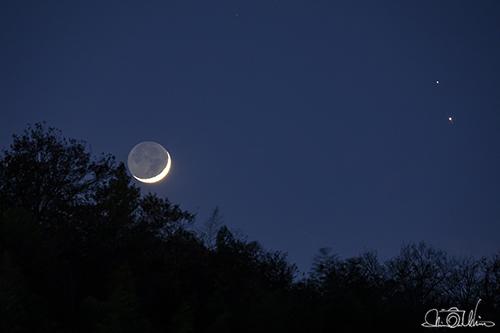月 土星 木星 大接近