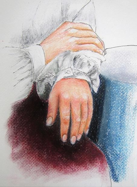 1 21.2.7 妻・古希祝い。絵・二十歳Ⅲ。二十歳・手、映画「素晴らしきかな、人生」「くちづけ」「やわらかい生活」 (69)