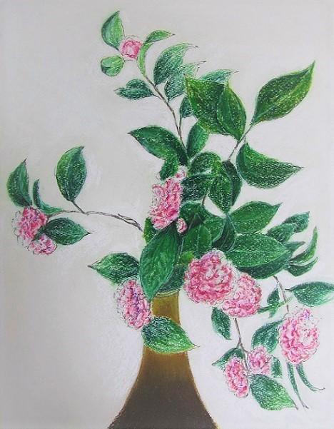 1 21.4.1 絵・椿。桜堂の🌸、映画「わが谷あ緑なりき」、「鐘の鳴る丘❶」  (125)