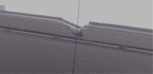 台風で雨樋が壊れた
