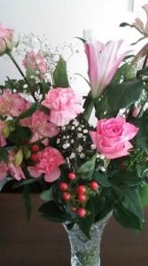 ピンクの花束1