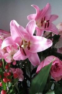 ピンクの花束4