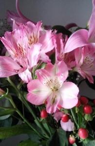 ピンクの花束5