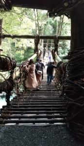 祖谷の蔓橋 入口