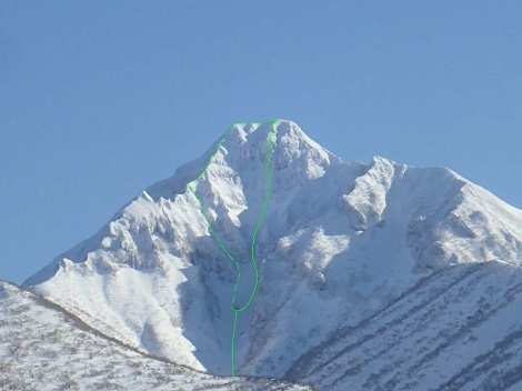 斜里岳登攀ライン
