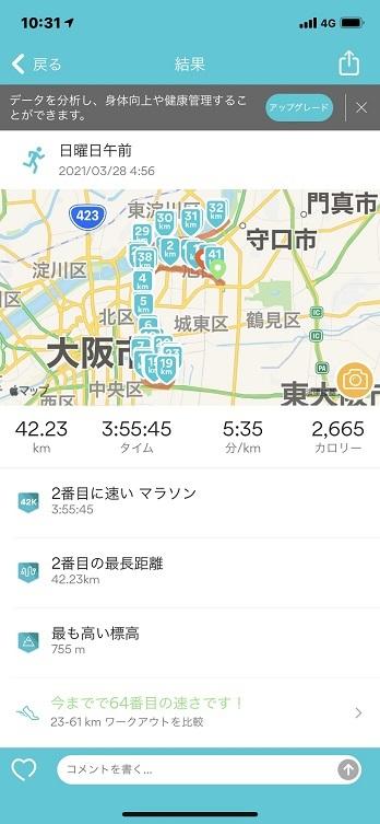 マラソン(2021.3.28)