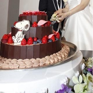 20210214バレンタインウェディングケーキチョコレート