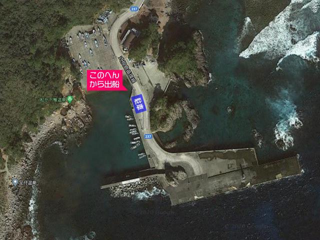 式根島港構内図