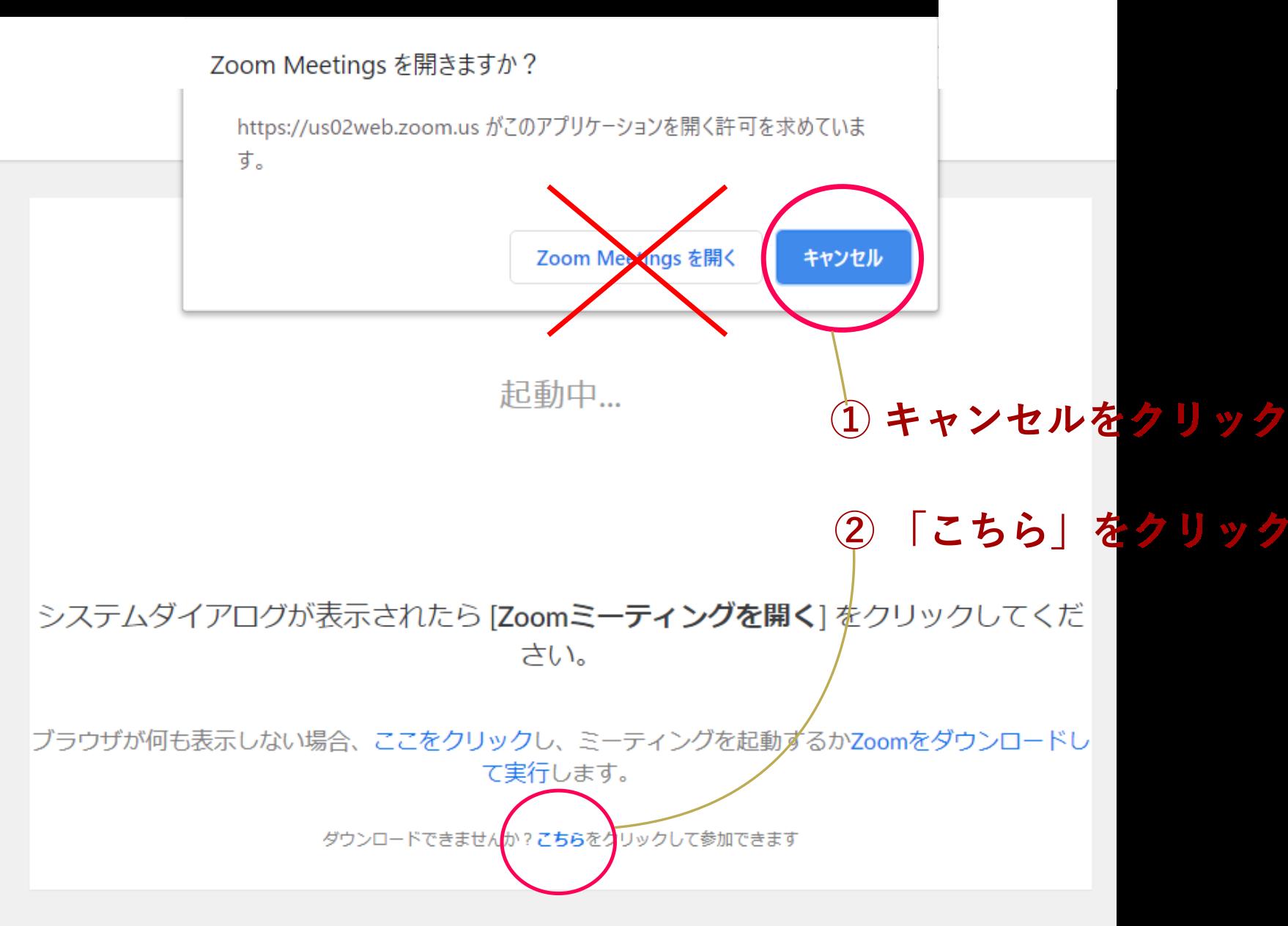 zoom_ブラウザから