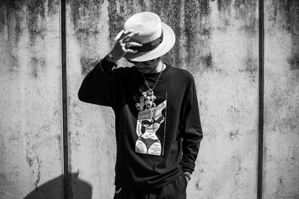 GANGSTERVILLE WANT LOVE-L/S T-SHIRTS REBEL-PANTS KISSING-BOATER HAT