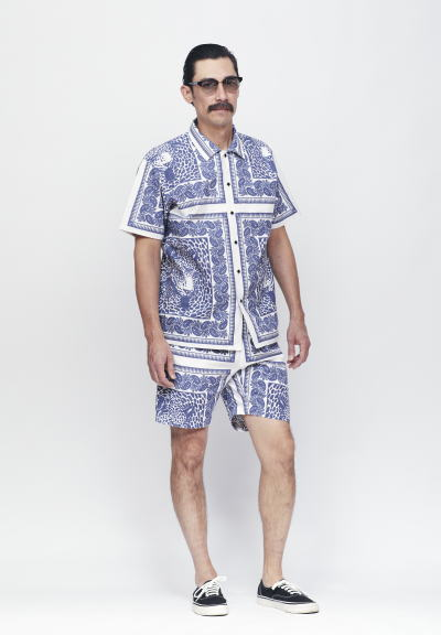SOFTMACHINE BLEND BANDANA SHIRTS S/S BLEND BANDANA SHORTS MASTER GLASS