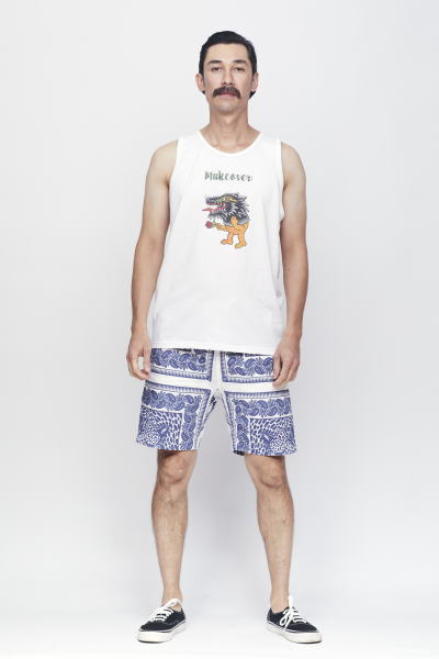 SOFTMACHINE MAKE OVER TANK BLEND BANDANA SHORTS
