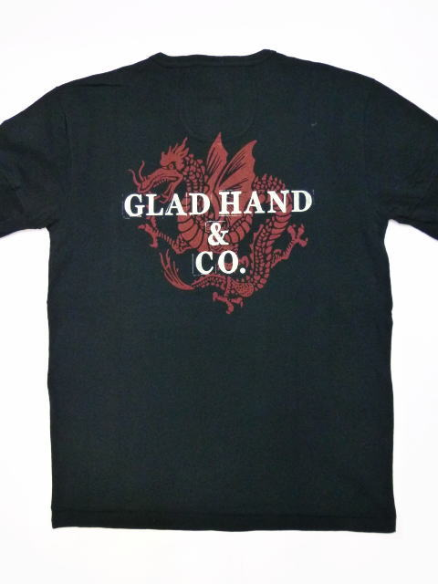 GLAD HAND×FULLCOUNT DRAGON-S/S HENRY T-SHIRTS