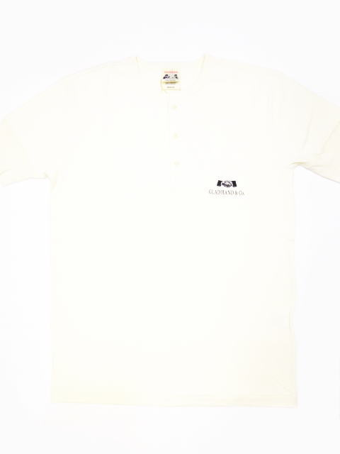 GLAD HAND×FULLCOUNT LOGO-S/S HENRY T-SHIRTS