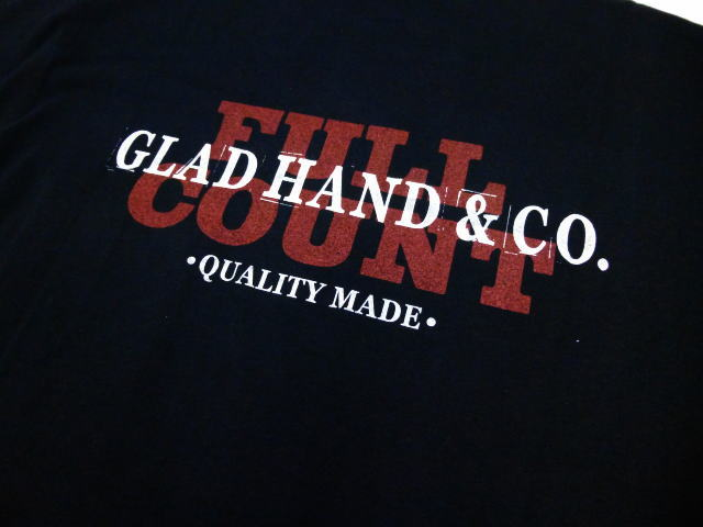 GLAD HAND×FULLCOUNT LOGO-S/S T-SHIRTS