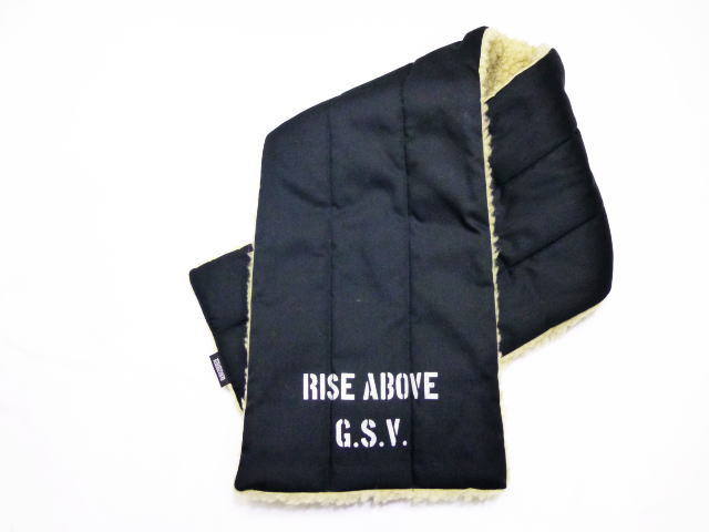 GANGSTERVILLE RISE ABOVE-REVERSIBLE PILE SCARF