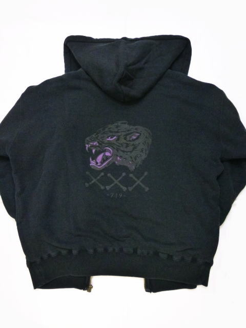GANGSTERVILLE PANTHER PISS-DOUBLE FACE SWEAT ZIP UP HOODIE
