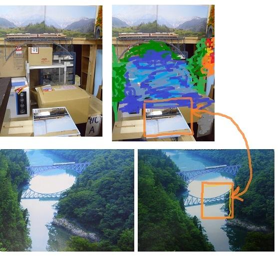 HOレイアウト只見川橋梁写真10