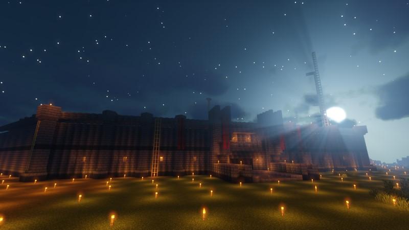 夜のサンドリア外壁
