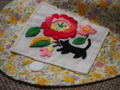 N_studiomimosaエコバック刺繍