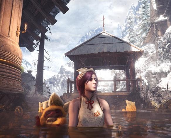 キンセンサルと温泉