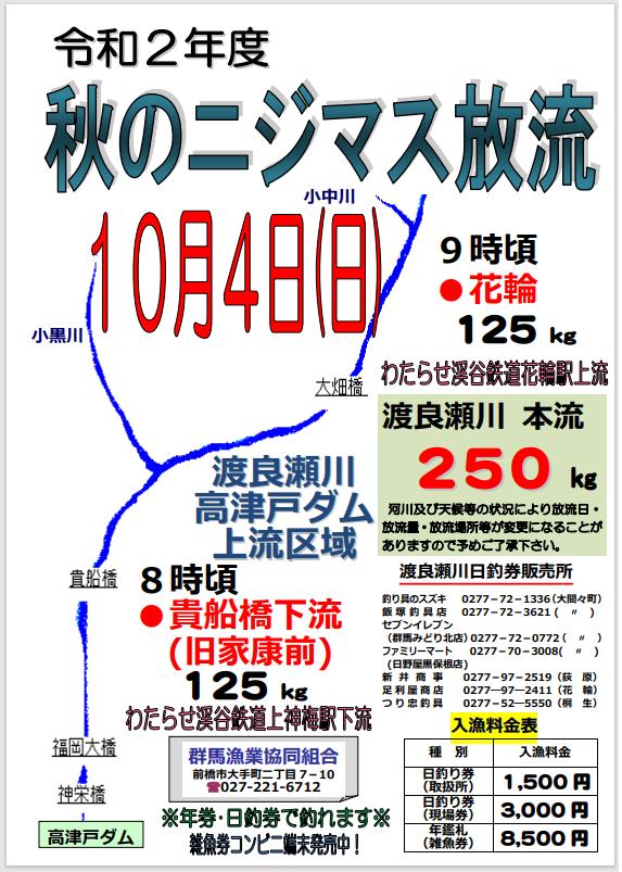 2020渡良瀬秋ニジマス