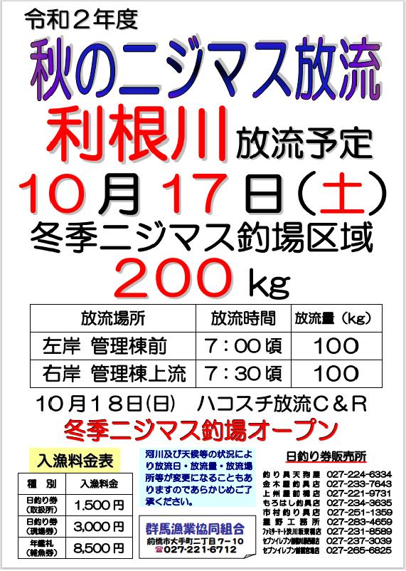 2020秋利根川ニジマス