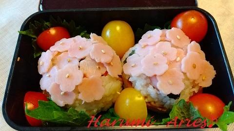 紫陽花おむすび弁当ブログ用