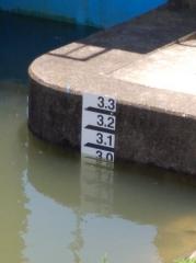 1曇川水位本日最高